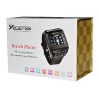 "1.3"" Touch Screen Wrist Watch Style Dual SIM Quadband GSM Cell Phone w/ Camera - Black + Blue"