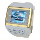 "1.3"" Touch Screen Wrist Watch Style Dual SIM Quadband GSM Cell Phone w/ Camera - White + Gold"