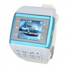 "1.3"" Touch Screen Wrist Watch Style Dual SIM Quadband GSM Cell Phone w/ Camera - White + Blue"