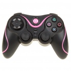 Rechargeable DualShock Bluetooth Wireless SIXAXIS Controller for PS3 (Black + Deep Pink)