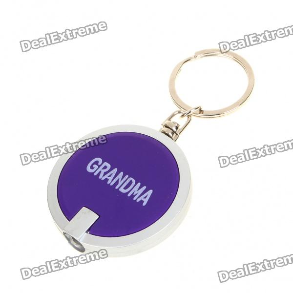 Fashion White 1-LED Flashlight Keychain - Random Color (3xAG1)