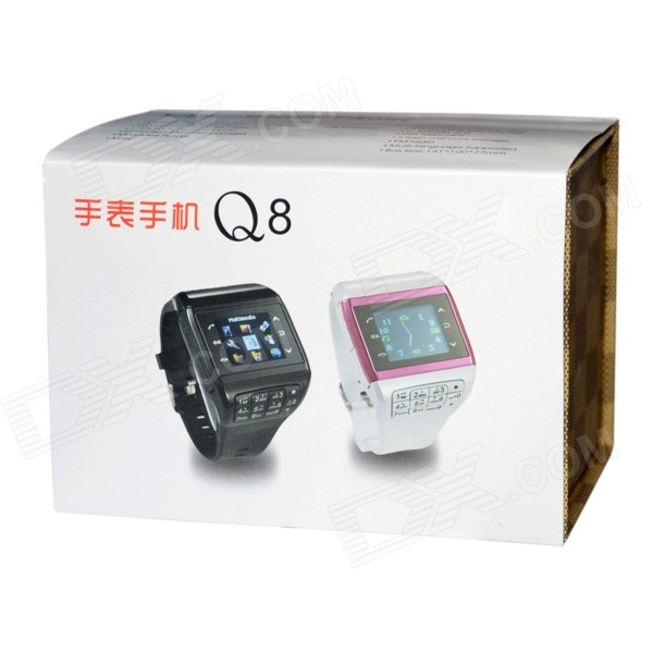 "1.3"" Touch Screen Wrist Watch Style Dual SIM Quadband GSM Cell Phone w/ Camera - Black + Silver"
