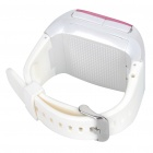 "1.3"" Touch Screen Wrist Watch Style Dual SIM Quadband GSM Cell Phone w/ Camera - White + Pink"