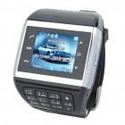 "1.3"" Touch Screen Wrist Watch Style Dual SIM Quadband GSM Cell Phone w/ Camera - White + Black"