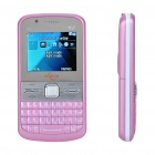 "2.0"" LCD Dual SIM Dual Camera Quadband GSM TV Cell Phone w/ Double Speakers - Pink + Silver"