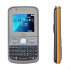 "2.0"" LCD Dual SIM Dual Camera Quadband GSM TV Cell Phone w/ Double Speakers - Black +Silver"