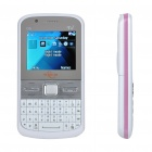 "2.0"" LCD Dual SIM Dual Camera Quadband GSM TV Cell Phone w/ Double Speakers - White + Silver"