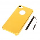 Protective Aluminum Back Case with Stylus for Iphone 4 - Golden