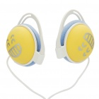 Cute Smiling Face Pattern Stereo Headphones - White (3.5mm Jack/90cm Cable)