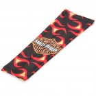 Trendy Terylene Shooter Arm Sleeve - Black + Red