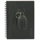 Unique Black 4 Series Armed Notebook - Grenade (60-Page)