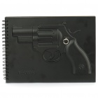Unique Black 4 Series Armed Notebook - Revolver (60-Page)