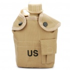 Unique US Army Style Canteen with Cup Set - Desert Tan (1L)