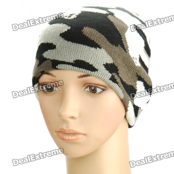 Stylish Woolen Beanie Winter Hat Cap - Camouflage aetrue beanie women knitted hat winter hats for women men fashion skullies beanies bonnet thicken warm mask soft knit caps hats