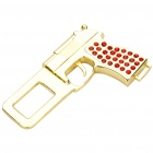Universal Gun Shaped Stainless Steel Safety Seat Belt Buckle - Golden