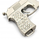 Universal Gun Shaped Stainless Steel Safety Seat Belt Buckle - Silver