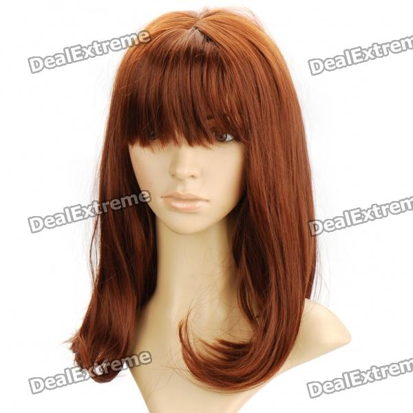 Fashion Long Natural Wavy Hair Wig - Brown 2016 new free shipping high quality natural long curly light brown wig for white women free wig cap