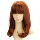 Fashion Long Natural Wavy Hair Wig - Brown