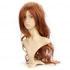 Fashion Long Curly Hair Wig - Brown Yellow