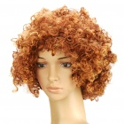 Fashion Short Curly Hair Wig - Golden