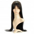 Fashion Long Natural Straight Hair Wig - Black