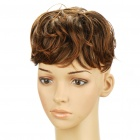 Fashion Short Top Curly Hair Wig - Brown