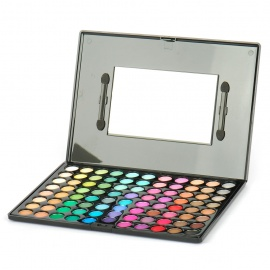 Cosmetic Make-Up 88-Color Eye Shadow Palette with Mirror and Brushes (Smokey)