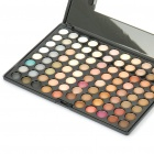 Cosmetic Make-Up 88-Color Eye Shadow Palette with Mirror and Brushes (Matte)