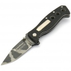 Stainless Steel Manual-Release Folding Knife with Clip - Camo (9.3CM-Blade)