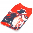 Stylish Sock Style Michael Jackson Protective Soft Pouch for Cellphone (Random Patterns)
