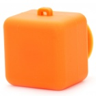 Square Plastic Sucker Stand + Cable Smart Wrap Organizer - Orange