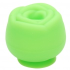 Flower Shaped Plastic Sucker Stand + Cable Smart Wrap Organizer - Green