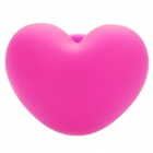 Heart Shaped Plastic Suction Cup Stand + Cable Smart Wrap Organizer - Deep Pink