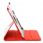 Cocodrilo patrón protector PU Leather Case Holder rotación de 360 ​​grados para Ipad 2 - Red