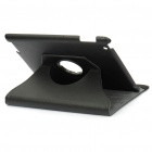 Protective 360 Degree Rotation Holder PU Leather Case for Ipad 2 - Black