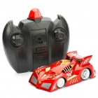 Mini Rechargeable R/C Wall Climbing Race Car with Remote Controller - Red
