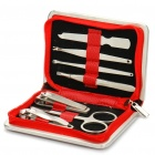 CT6100 7-in-1 Stainless Steel Nail Clippers Scissors File Manicure Tools