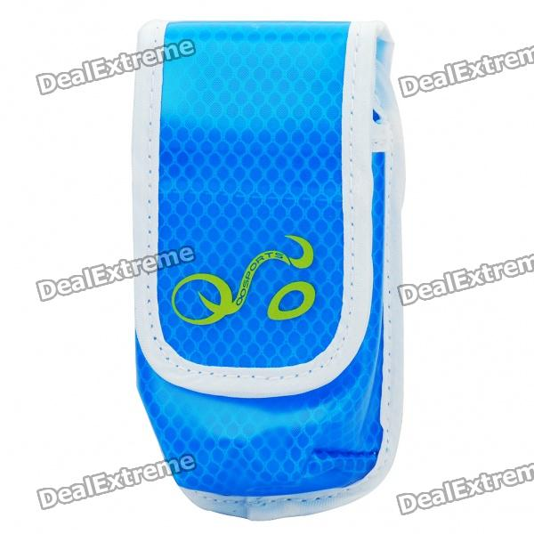 Fashion Water Resistant Arm Bag/Waist Bag for Cell Phone/MP3/MP4/Gadgets - Blue fashion waterproof waist bag bicycle bike bag with led light strap blue