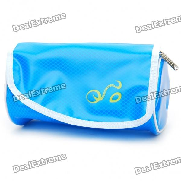 Fashion Waterproof Waist Bag/Bicycle Bike Bag with LED Light Strap - Blue fashion waterproof waist bag bicycle bike bag with led light strap blue