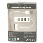 USB 2.0 3-Port HUB for iPhone 3GS/4 Charger - White