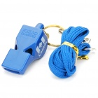 Professional ABS Plastic Referee Whistle with Lanyard - Blue