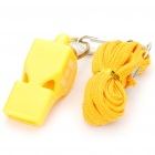 Professional ABS Plastic Referee Whistle with Lanyard - Yellow