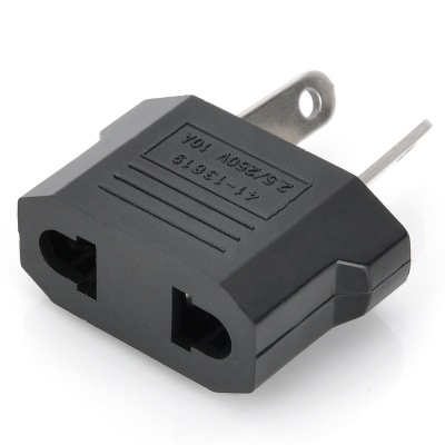 Compact Australia Travel Plug Adapter - Black
