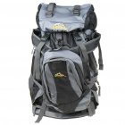 Meixing Fashionable Outdoor Travel Sport Backpack Double Shoulder Bag - Black + Gray
