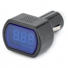LED Display Cigarette Lighter Electric Voltage Meter for Auto Battery (DC 12/24V)