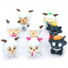 Cute Goats and Wolves PVC Cartoon Figures (8-Figure Pack)