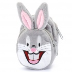 Cute Cartoon Figure Style Plush Bag/Pouch w/ Strap (Style Assorted)