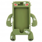 Unique Monster Style Protective TPU Case for iPhone 4 - Green