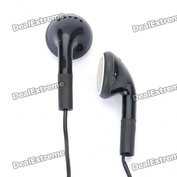 Stylish Stereo Earphone w/ Microphone - Black (3.5mm Jack / 110cm-Cable)