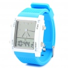 "Cool 1.5"" LCD Pointer / Digital Display Wrist Watch - Blue + White"